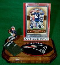 New England Patriots Tom Brady NFL Action Figure Sports Card Display Logo Gift