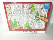 Eurographics Color-Me Christmas Trees Jigsaw Puzzle