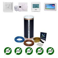 Elektrische Fußbodenheizung Infrarot Heizfolie 80/100/130/160/220W Komplett-set
