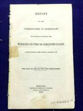 Investigation WRECKS ON THE MONMOUTH COAST.  1st Edition 1846  The JOHN MINTURN