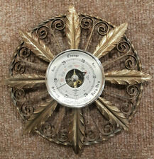 Shortland Vintage Barometer, 26.5cm Diameter, Ornate Floral Metal Surround