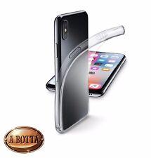 Cover in Gomma Trasparente Ultrasottile per iPhone X Cellularline FINE  Custodia