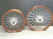 40 spoke Rims 21 x 2.15, 16 x 3 copper powder coat. Harley, Bobber, Chopper