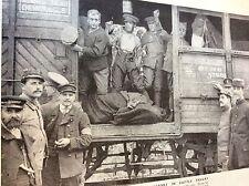 m8-1 ephemera 1938 ww1 picture 1914 british tommies travel in cattle truck