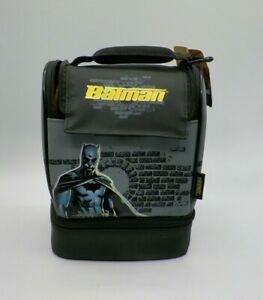 Batman Lunch Box Dual Compartment Thermos New Free Shipping