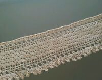 Antique Lace Edging Sewing Trim Length Cotton Old