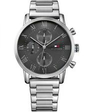 New Tommy Hilfiger Men's Kane Stainless Steel Silver Watch 1791397