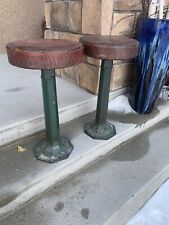 Vintage Cast Iron Swivel Diner/Ice Cream Shop Stools