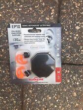 SUREFIRE Sonic Defenders Ultra Max EP10 30 dB Earplugs, Size Medium, New.