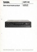 Service Manual-Anleitung für Saba Ultra HiFi 9120