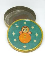 Vintage Soviet Empty Candy Tin Box - DOLL, USSR, 1950/60s