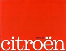 Citroen ID19 Breaks confort luxe 1963 French market sales Brochure