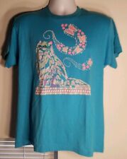 Vintage Screen Stars 1989 Blue Pink Kitty Cat Butterfly Hearts T Shirt Size Lg