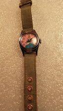Cinderella Watch 1950s Chrome Plated Wind Up Watch w/ Original Band
