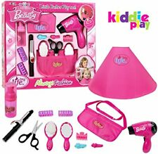 Kiddie Play Pretend Play Girls Beauty Salon Fashion Toy Set Including Hair Dryer