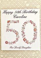 Personalised Birthday Card 21st, 40th, 50th, 60th, 70th 80th Birthday etc