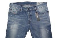 DIESEL SLEENKER 0856K SKINNY JEANS W34 L30 100% AUTHENTIC