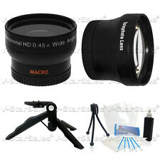 37mm 0.45X Wide Angle + 2X Telephoto Lens for Canon HF11 HF10 HF100 HG21 HR10