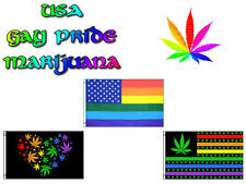3x5 ft Wholesale Lot USA American Weed Marijuana Gay Pride Set Flags Flag 3'x5'