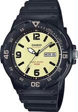Casio Men's Analog Black Resin Band, 100 Meter, Day/Date, MRW200H-5BV