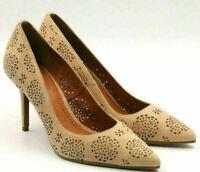 Coach Women Classic Pump Heels Waverly 85MM Size US 6B Beechwood Brown Suede