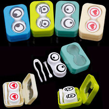 3D Cute Cartoon Eye Shape Contact Lens Box Case Container Holder Soak Storage
