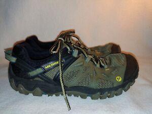 Men Merrell All Out Blaze Aero Dusty Olive Green Hiking Shoe Size 9.5 43 j37687