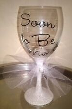Bride to Be Glitter Wine Glass - personalised. Wedding, Hen Night