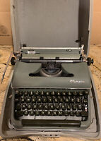 Olympia DeLuxe SM3 Manual Typewriter *100% Functional & Tested!* W/Case & Manual