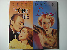 Great Lie, The & Dangerous 1941-36 Double Feature Laser Disc - NEW - Bette Davis