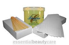WAX KIT with 425g TEA TREE CREAM WAX ,100 paper wax strips,100 waxing spatulas