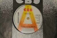 "JOHNNY CASH ~ I WILL ROCK AND ROLL ~ CBS BIG 'A' UK DEMO PROMO 7"" VINYL RECORD"