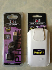 Etui / Coque / Housse blanche T'NB  pour iPhone 4 & 4S+chargeur