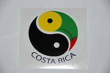 Costa Rica Bumper Sticker Round Decal Yin Yang Tuocan Bird