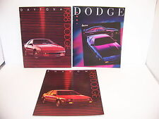 1988 DODGE SHADOW & 1988 1989 DAYTONA SALES BROCHURES (3)