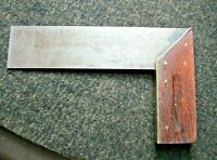 """Antique Craftsman Carpenter Right Angle Square Rosewood/Brass/Iron 7.5"""""""