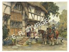 Fine Art Signed Print by Dick Sturgeon, 'Off to Work', Bignor, Sussex
