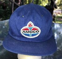 AMOCO Gas Snapback Trucker Hat Cap Embroidered Patch Made in USA K Products vtg