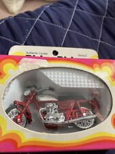 1974 Zee Toys Ridge Riders Red Yamaha 650 Diecast Motorcycle 1:26 In Box