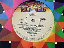 """KISS 45 PROMO Heaven's On Fire SOUTHAMERICA 7"""" 1984 El Cielo Esta En Llamas"""