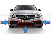 NEW GENUINE MERCEDES BENZ MB C63 W205 AMG FRONT BUMPER LOWER GRILL SET