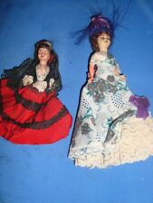 2 Old Vintage Plastic Dolls from Mexico 1950