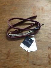 BNWT TOPSHOP RED PREMIUM PONY EFFECT LEATHER BELT GOLD BUCKLE. 100% LEATHER SZ S