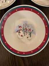"Royal Seasons Stoneware ""Snowman"" 6.75"" Soup/Cereal BOWL"