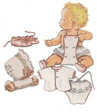 1940s Sewing Pattern Baby Romper Swimsuit Bonnet Bootees Size 6 months COPY
