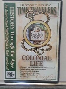 Time Travelers History Study Colonial Life CD Designed To Teach Hands-On New