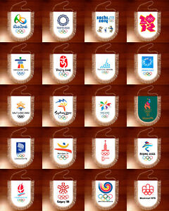 Pennants Olympic Games Summer Winter logo