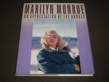 1987 MARILYN MONROE AN APPRECIATION BY EVE ARNOLD HARDCOVER BOOK - I 972