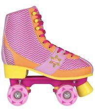 Nijdam Unisex 52RQ Chevron Roller Skates Fuchsia/Orange/Yellow 2.5-3 UK 35-36 EU