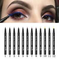 12 colors Matte Eyeliner Waterproof Liquid Long Lasting Eye Liner Pen Party Gift